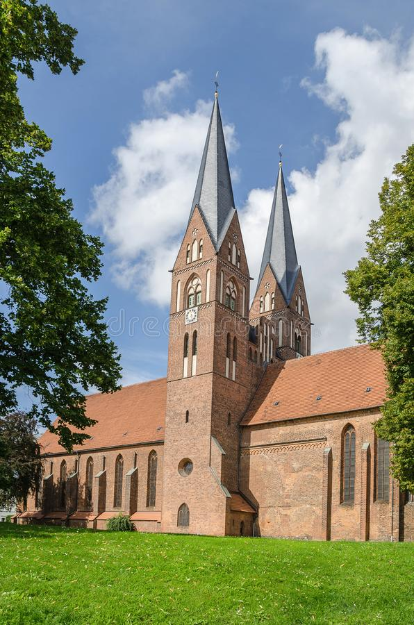 Brick Gothic Monastery Holy Trinity church - the landmark of Neuruppin, Germany. Brick Gothic Monastery Holy Trinity church - the landmark of Neuruppin, a town stock image