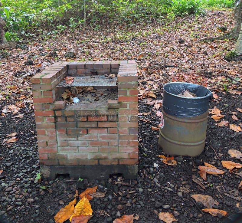 Brick grill stock image