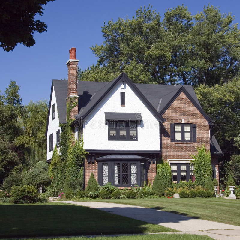 brick home masonry upscale στοκ εικόνα