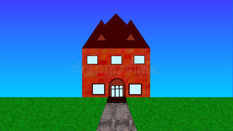brick house zdjęcia royalty free