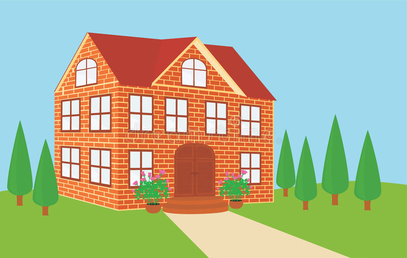 how to draw bricks on a house