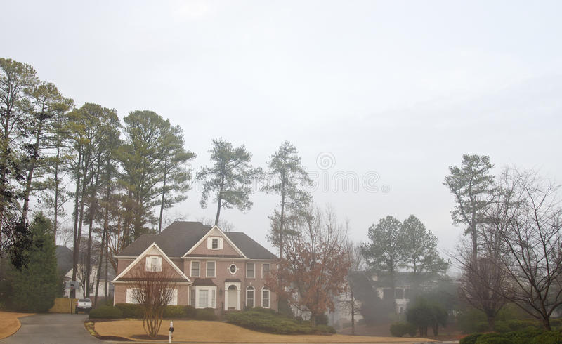 Download Brick House on Foggy Day stock image. Image of realty - 22876963
