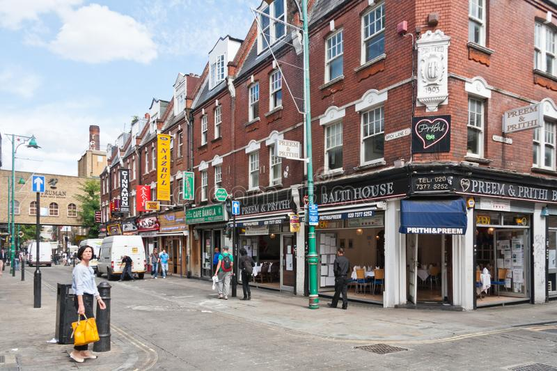 Brick Lane in the East End of London, England, United Kingdom stock photos