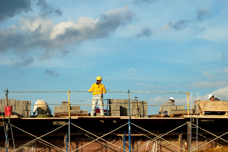 Brick Laying stock photo