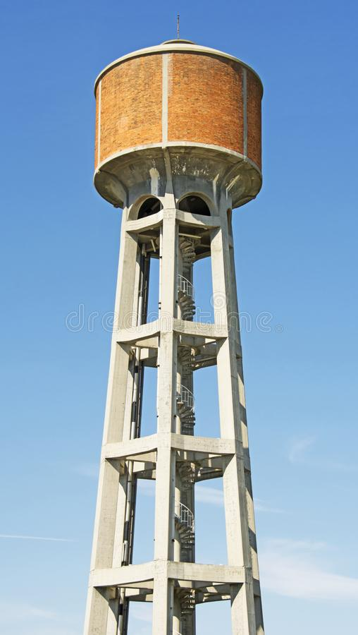 Brick Lined Water Tower in Italy royalty free stock photography