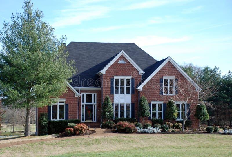 Download Brick Luxury Home 39 stock image. Image of columns, exterior - 12715843