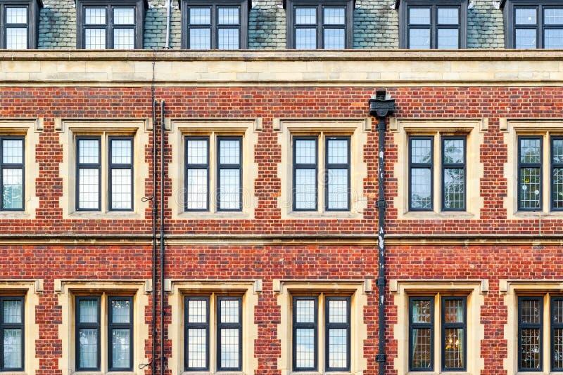 Brick mansion block in London stock photography