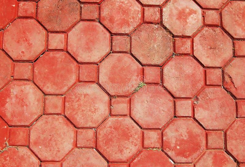 Brick octagonal walkway