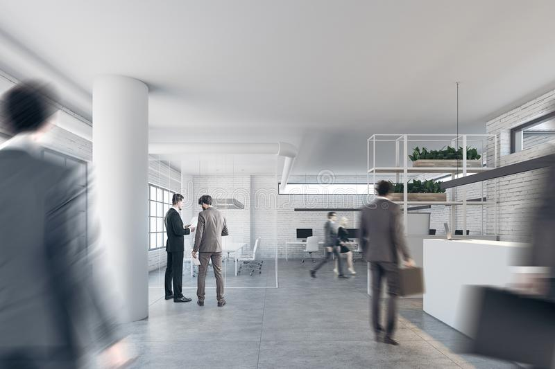 office reception interior. Wonderful Interior Download Brick Office With A Reception And Columns People Stock  Illustration  Of Minimalistic Throughout Interior
