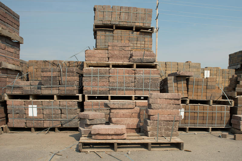 Download Brick Pallets stock image. Image of stone, color, architectural - 33119799
