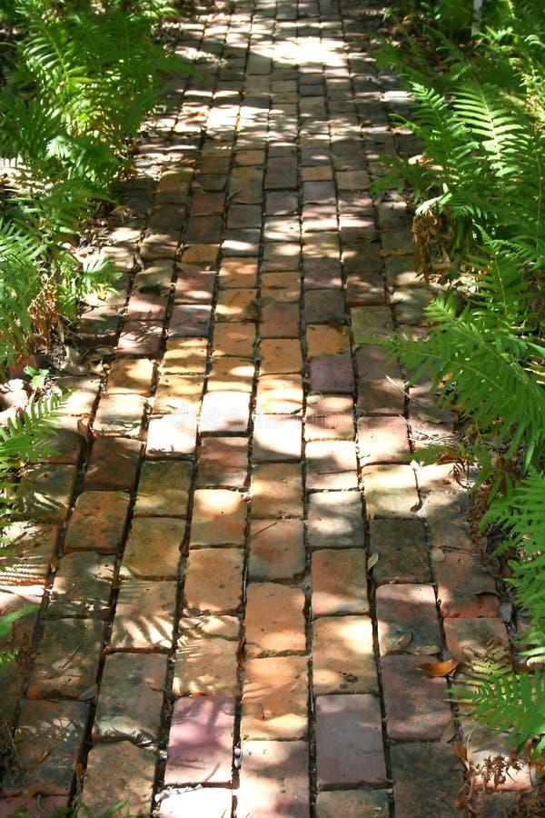 Brick Path stock photography