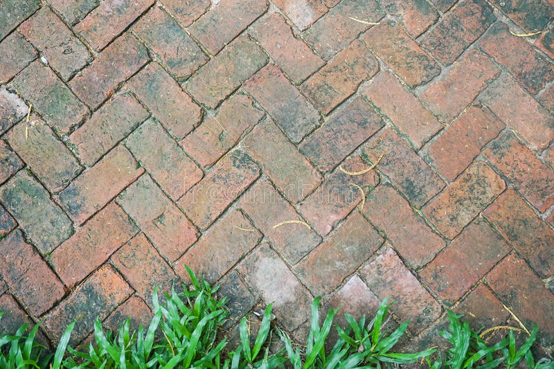 Brick pathway texture stock photo