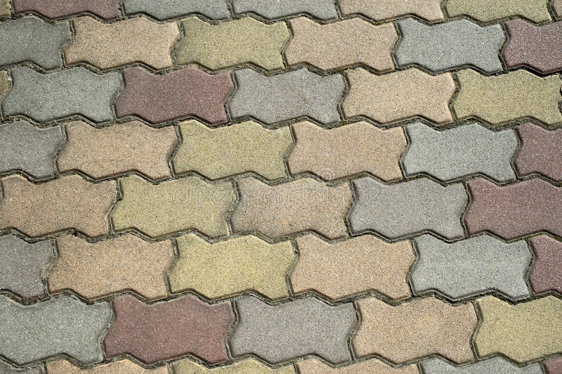 Brick patio. Red, green, and gray patio brick layout stock images