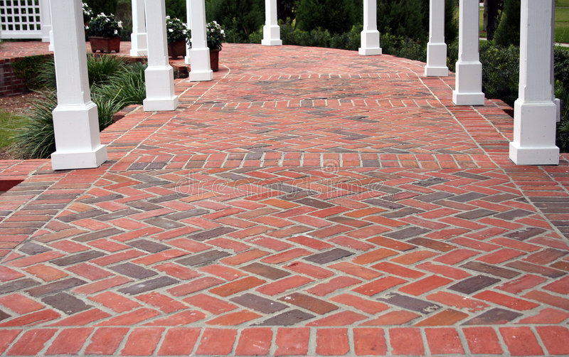 Download Brick Patio Stock Image - Image: 540301