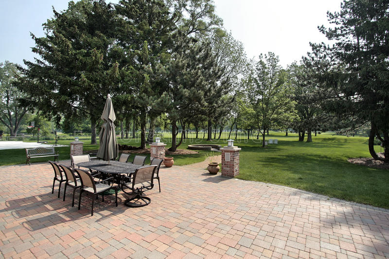 Download Brick Patio With Golf Course View Royalty Free Stock Photography - Image: 9705857