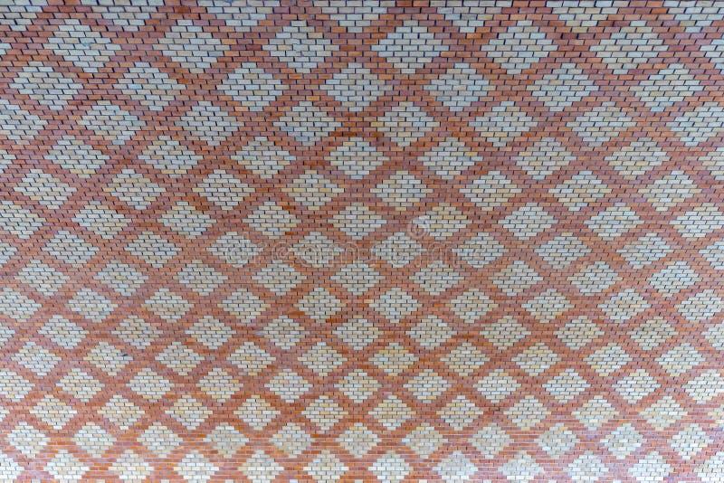 Brick pattern under the Theodor Heuss Bridge in Mainz City. Rhineland Palatinate Germany. royalty free stock photo