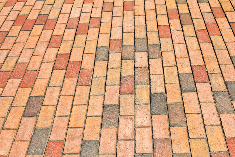 Brick Pavement In A City Royalty Free Stock Images