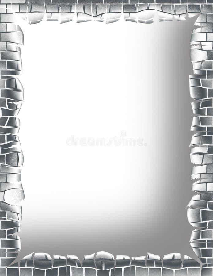 brick ramowy metalu royalty ilustracja
