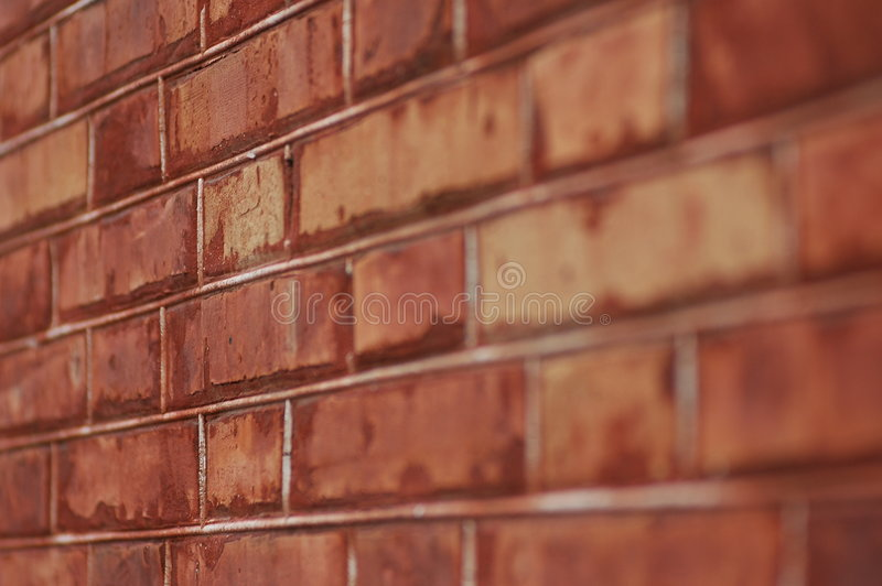 Brick red wall stock photography