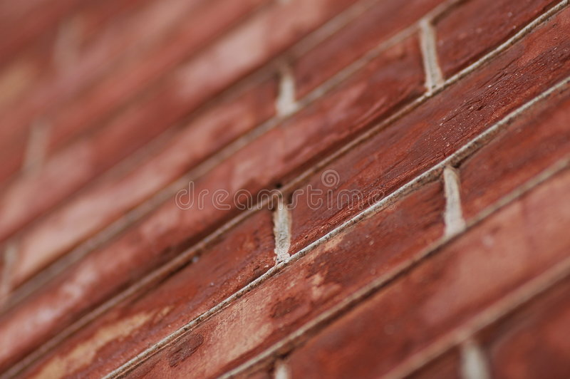 Brick red wall stock image