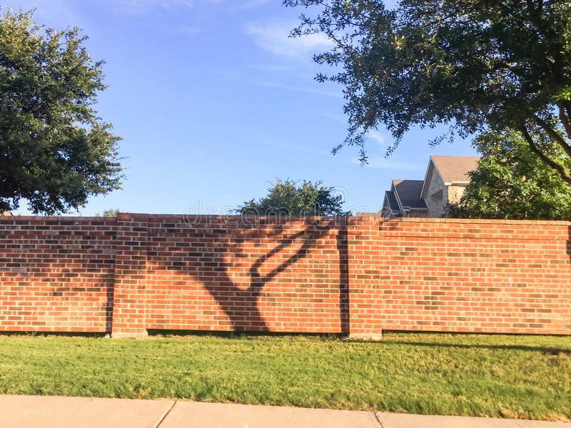 Brick screen walls residential houses in Dallas-Fort Worth area, royalty free stock photos