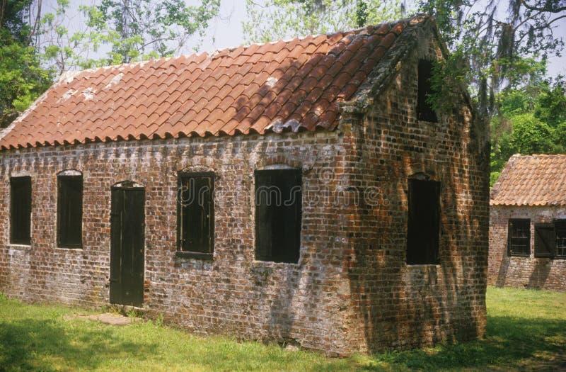 Brick slaves quarters royalty free stock image