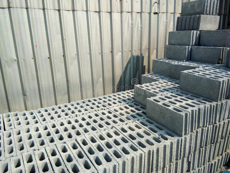 brick for construction in a building material store stock photo