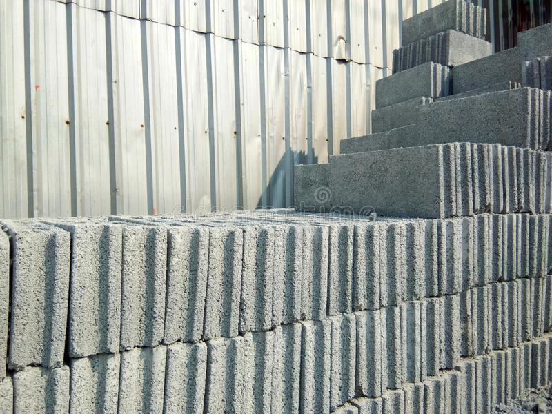 brick for construction in a building material store construction