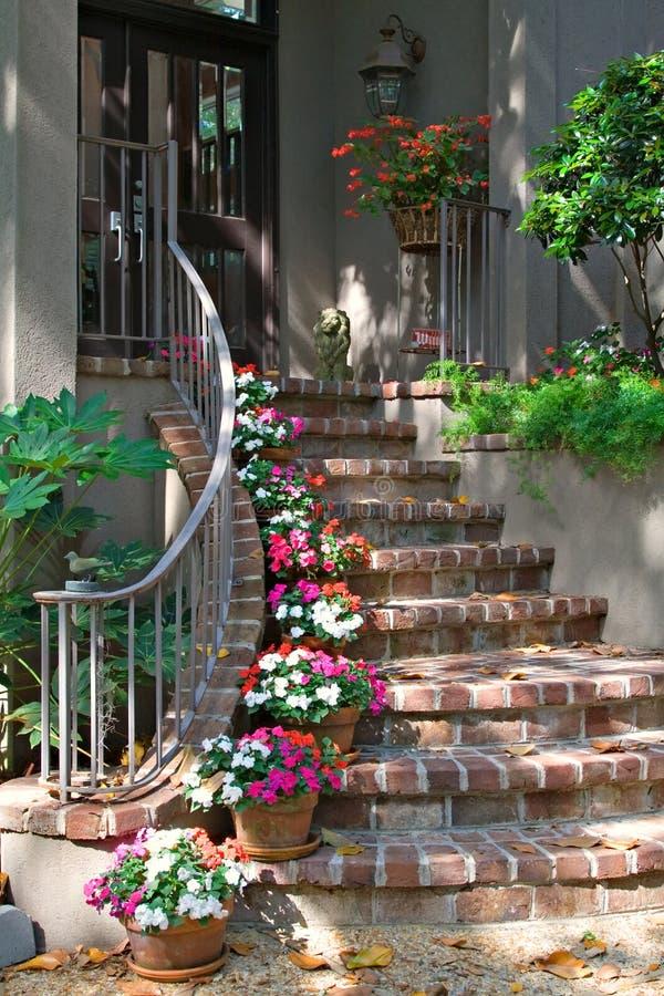 Brick Stairway to Door stock image