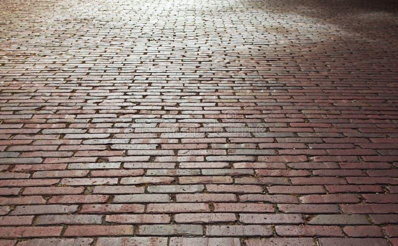 Brick street. An old brick street in Ballard, Seattle, WA, USA, 08-1-09 royalty free stock images