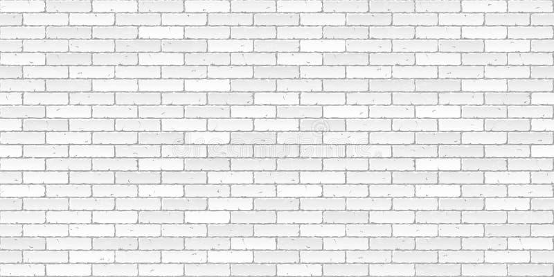brick tekstury białe ściany ilustracja wektor