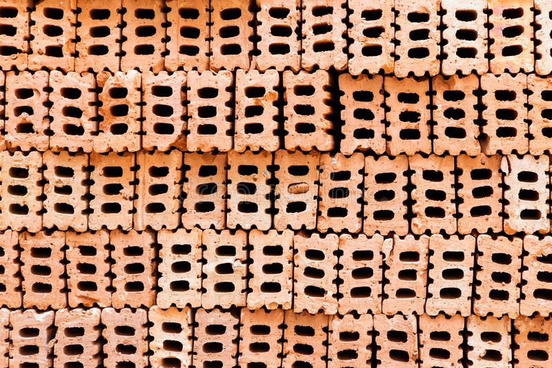 Brick texture background for interior exterior decoration and industrial construction design.  royalty free stock photo