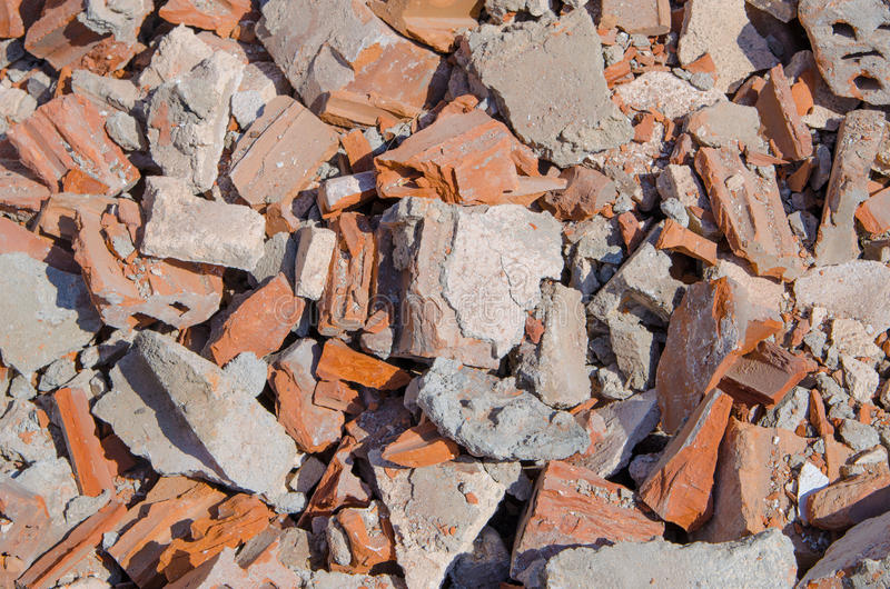 Brick texture from demolation royalty free stock images