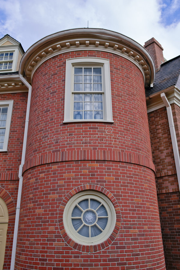 Free Brick Tower House Detail Royalty Free Stock Photography - 4995347