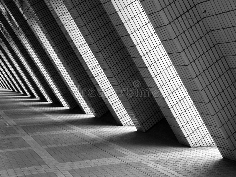 The brick walkway architecture pattern stock photography