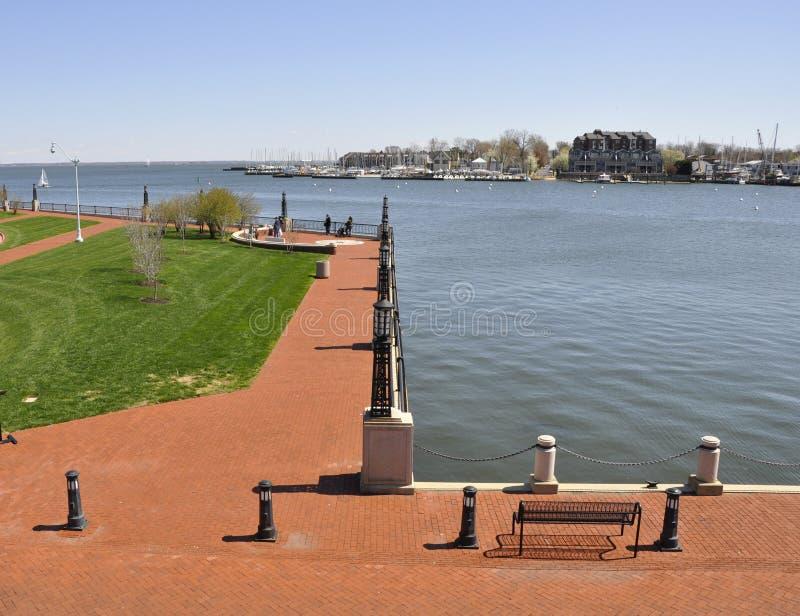 Download Brick walkway by water stock image. Image of dock, historic - 9172325