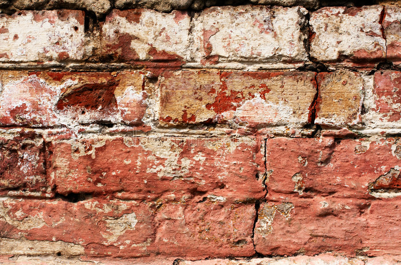 Download Brick wall stock image. Image of color, aged, split, paint - 1010845