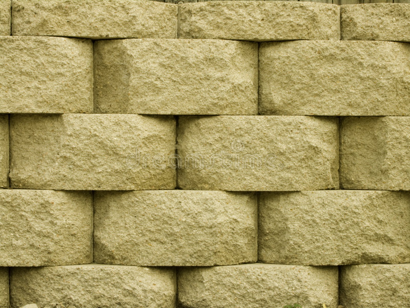 Brick Wall. Brick retaining wall in basket weave pattern royalty free stock images