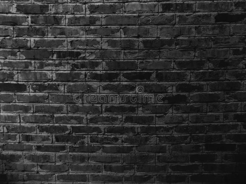 Black Brick Wall Texture Background. Abstract Building ...