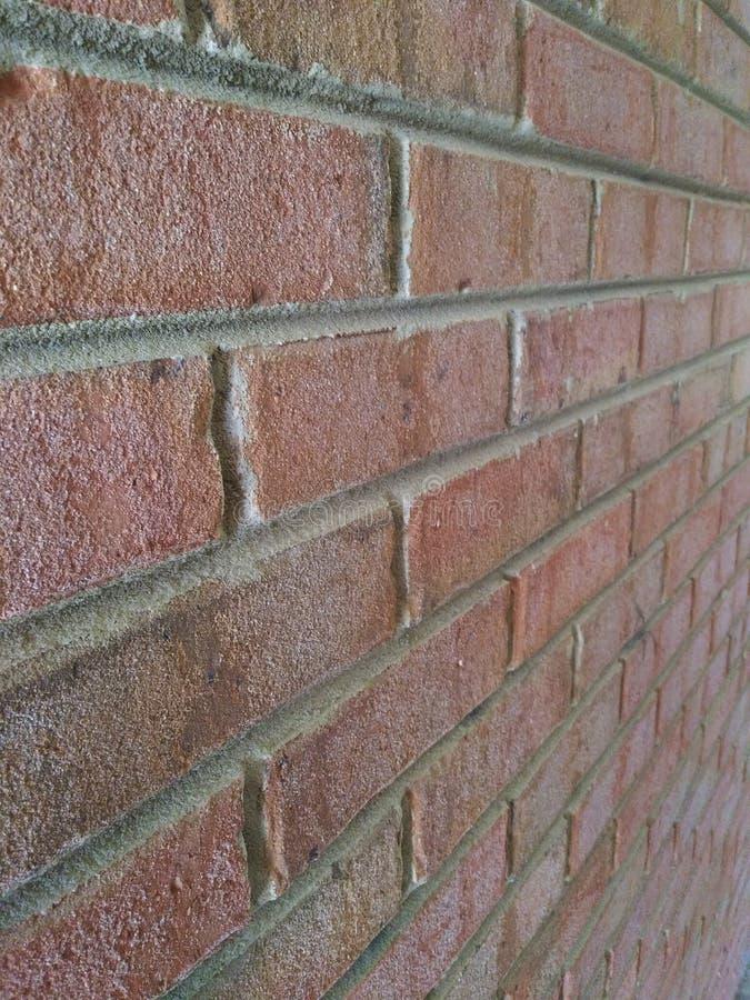 Brick wall angled view stock photos