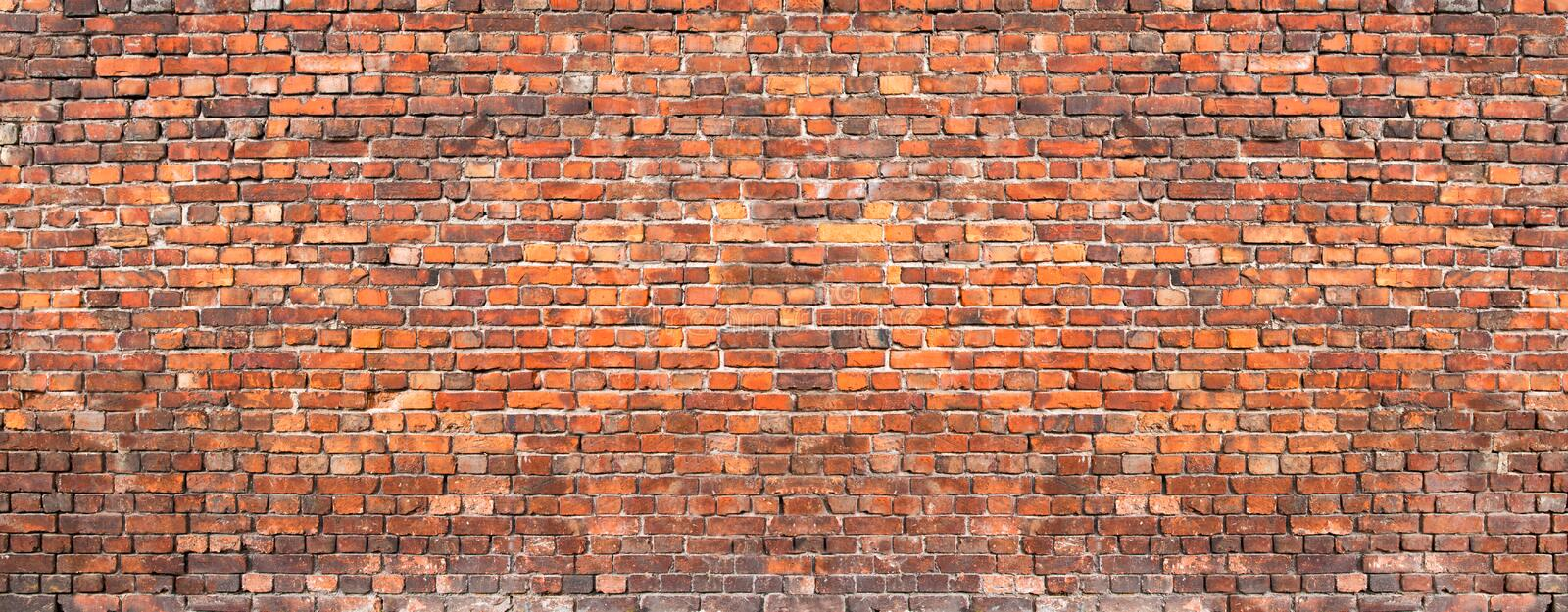Brick wall background, grunge texture brickwork old house royalty free stock images