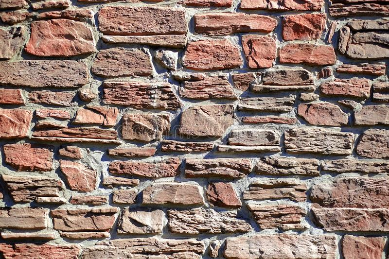 Brick wall. Background of old vintage brick wall stock image