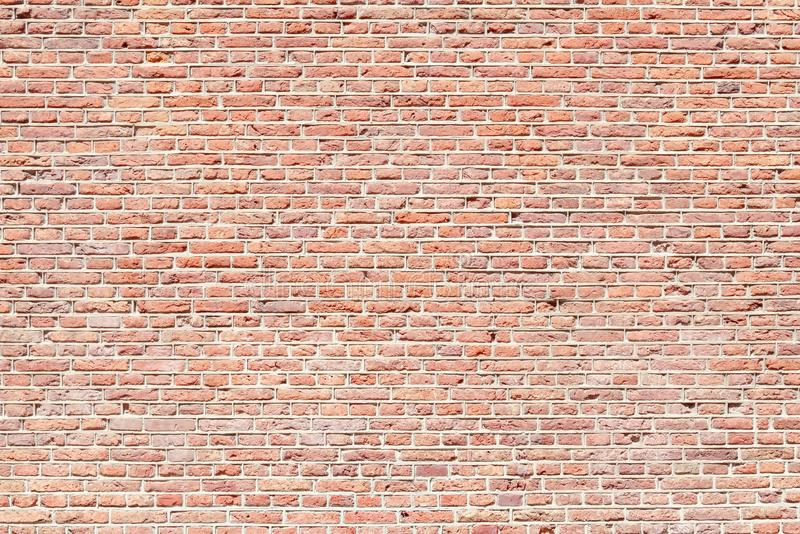 Brick wall background. Red brick wall background. Red bricks texture royalty free stock image