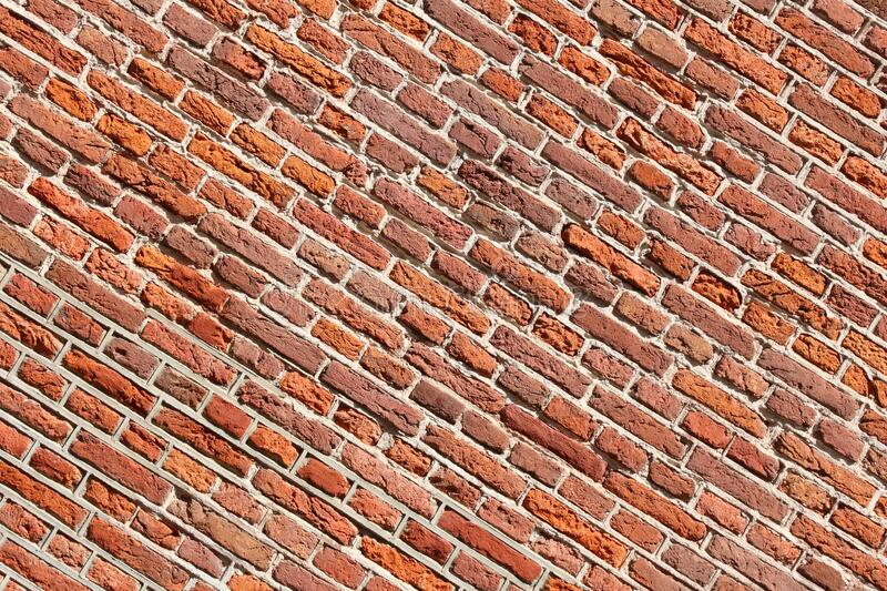 Brick wall background. Red brick wall background. Red bricks texture royalty free stock photography