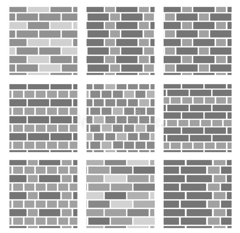 Brick Vector Picture Brick Veneers: Brick Wall Background. Set Of Seamless Vector Patterns