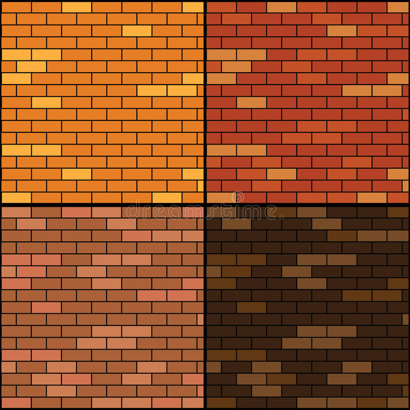 Download Brick wall background set stock vector. Image of backgrounds - 33217924