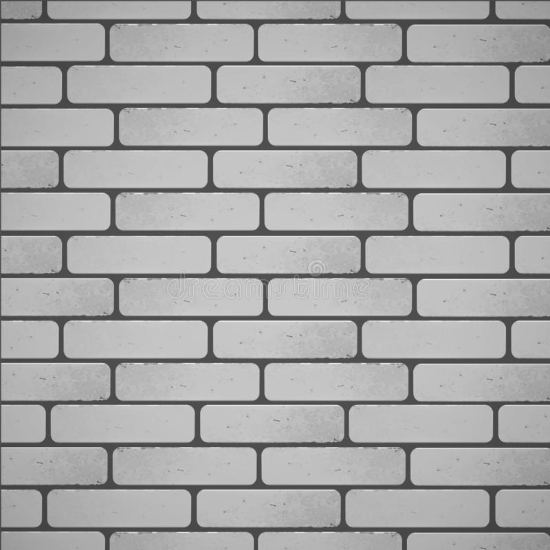Brick wall background of White color, vector EPS 10 illustration vector illustration