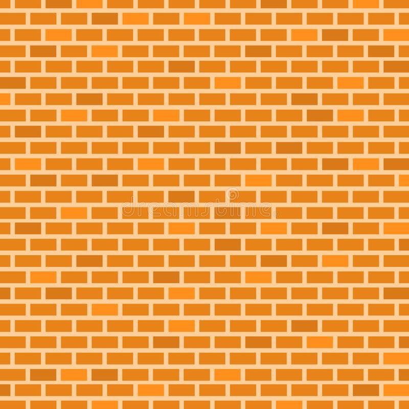 Brick Wall Background. Yellow, Orange, Brown Colors. Vector illustration for Your Design stock illustration
