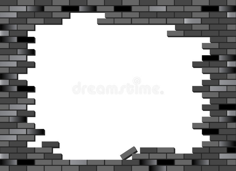 Download Brick wall black stock vector. Image of real, dirty, regular - 18927177
