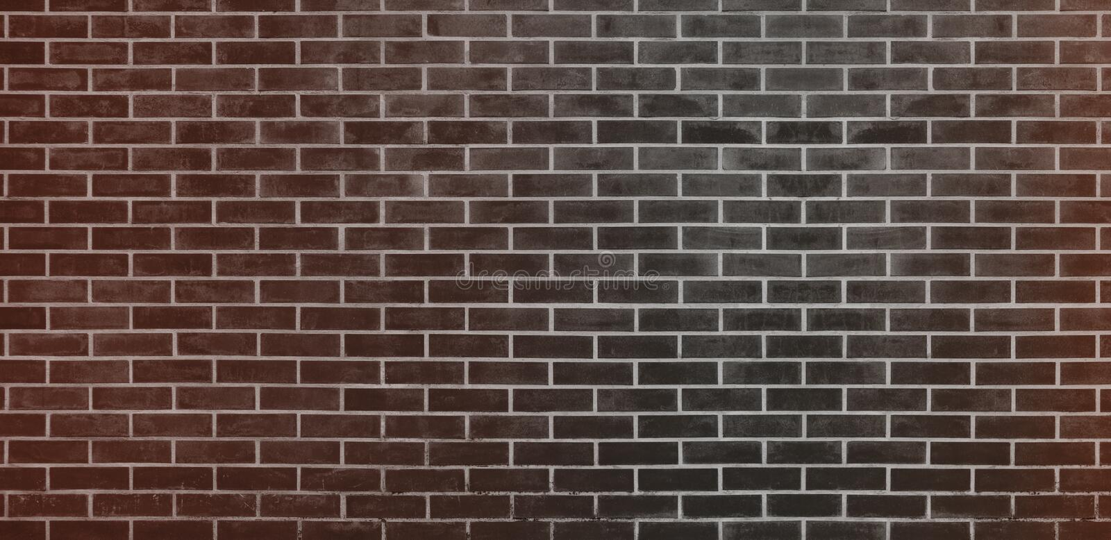 Brick wall, Black Brown bricks wall texture background for graphic design royalty free illustration